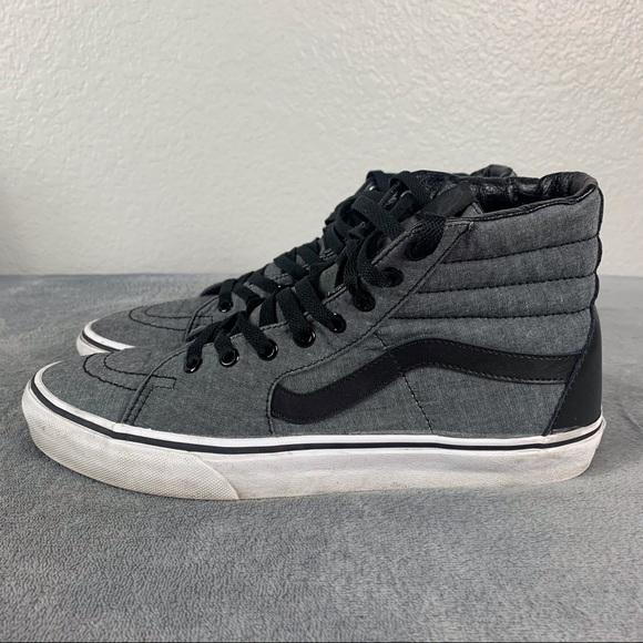 Vans Gray Black High Top Men's Sneakers Size 10